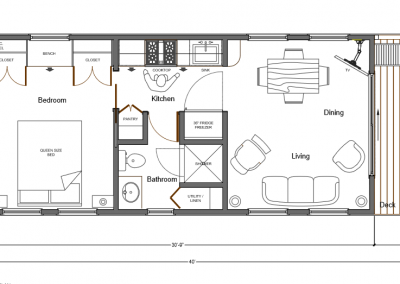 East Coast House Boats Riverlodge Interior floor plan